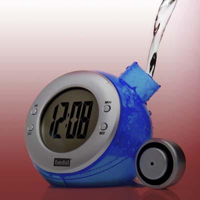 water-powered clock