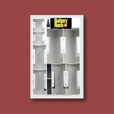 battery rack with tester