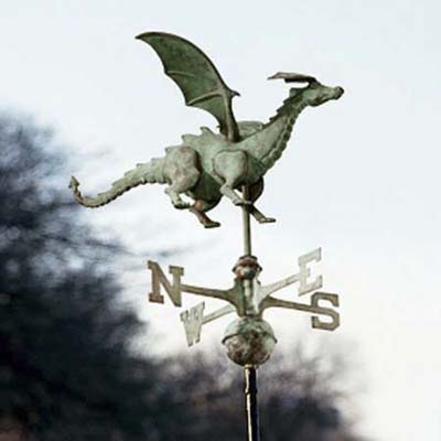 dragon shaped weathervane