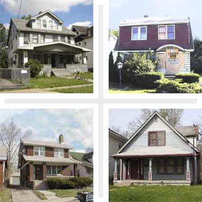 sample of the houses from California to New York for sale at pennies on the dollar