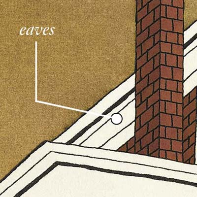 eaves help with water runoff and help control sun and shade exposure