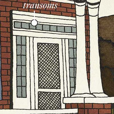 windowed transoms bring in natural light and can increase air flow