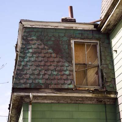 Roxbury, MA roof detail before