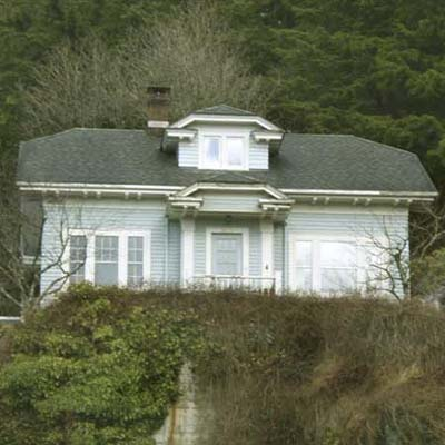 an old hillside house in Ketchikan, Alaska
