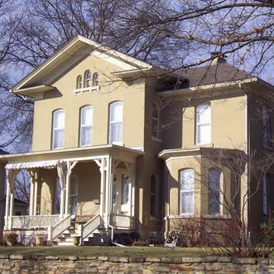 an old Italianate in Leavenworth, Kansas