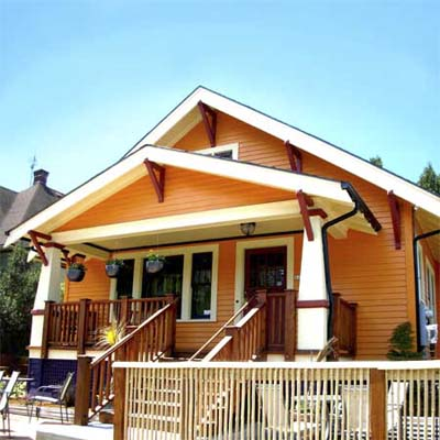 a Craftsman-style cottage in the Boise Neighborhood, Portland, Oregon