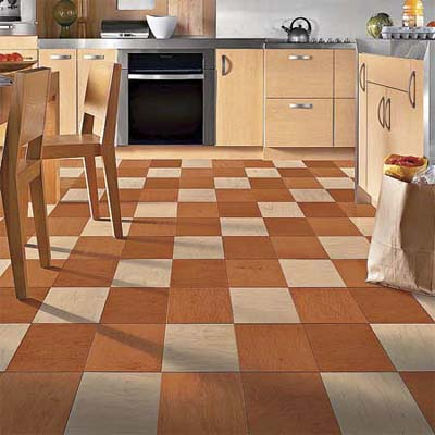 engineered wood squares offer a modern twist on traditional parquet