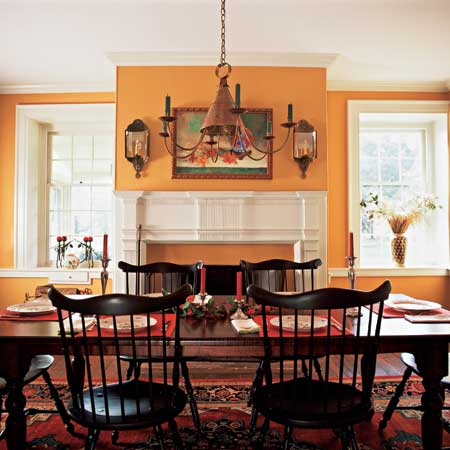 Federal era dining room create a colonial style dining for Period dining room ideas