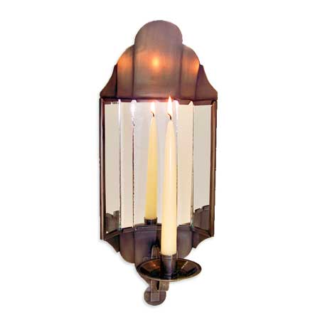 tin, mirrored sconces for candles