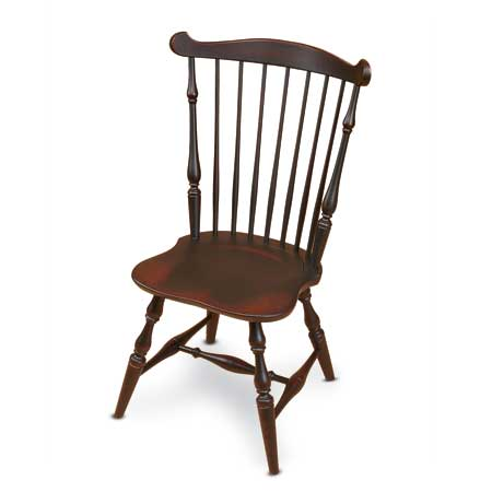 a reproduction fanback Windsor chair