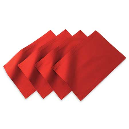 red linen napkins