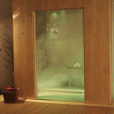 Spa Package steam generator aromatic-oil and mood-lighting systems in-shower speakers