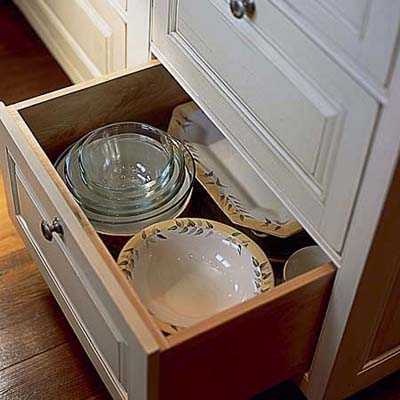 deep kitchen storage drawers