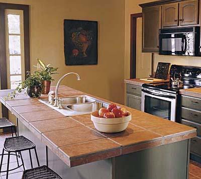kitchen tile countertop