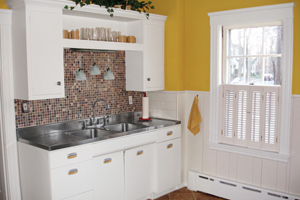 photo of a kitchen remodeled drastically on a very small budget