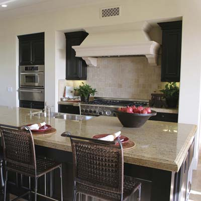 stain-resistant stone countertop