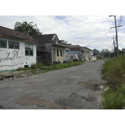 ghost town in Holy Cross Neighborhood, Lower 9th Ward, New Orleans