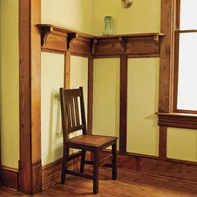 batten-style wainscoting