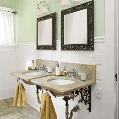 vintage-look wall-mount sinks