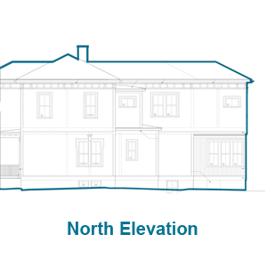 North Elevation of the Arlington Italianate TOH TV House Project