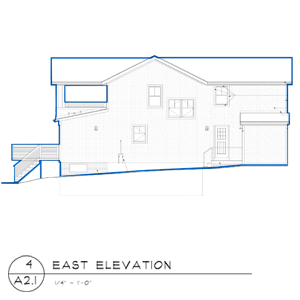 barrington beach house east elevation