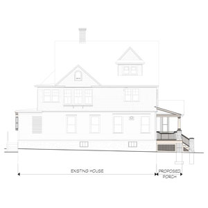 Belmont Victorian House Left Elevation