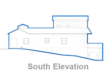los angeles house south elevation