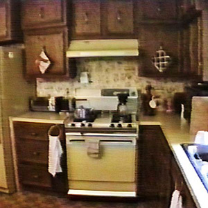 outdated kitchen and stove