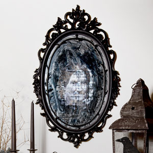 an eerie mirror for Halloween decorations