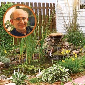 dan and gloria gibbon's backyard pond
