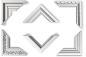 group of moldings for use as wall frames