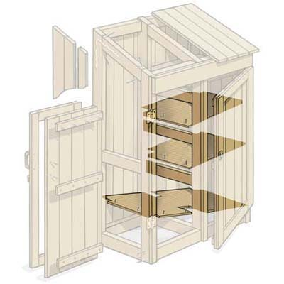 build a floor and shelves