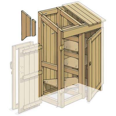 Side the shed how to build a garden tools shed this for Side of the house storage shed