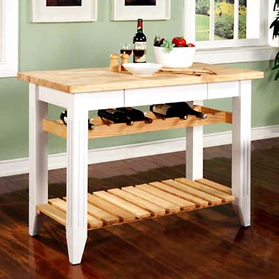 butcher-block kitchen island from Target