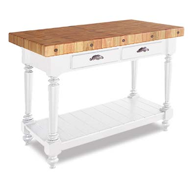 butcher-block kitchen island from Snake Hollow