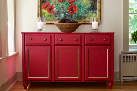 a finished sideboard or credenza
