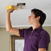 clean the ceiling with an abrasive sponge