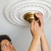 test the ceiling medallion assembly before painting