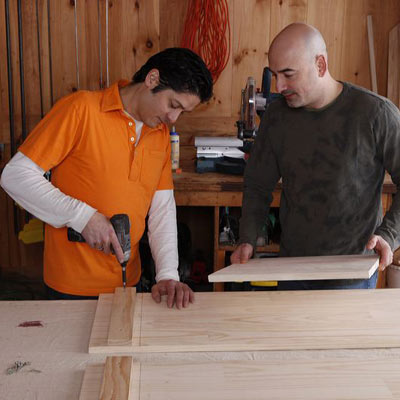 Install the cleats to assemble the hutch to make a wine hutch