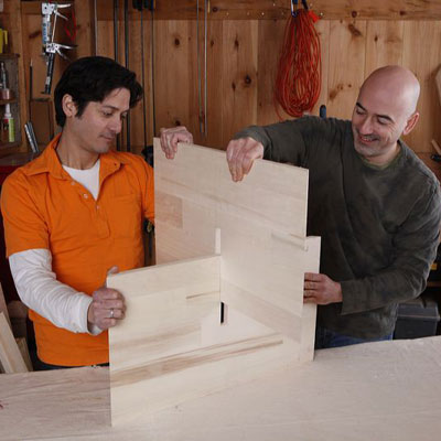 Assemble the pieces to make a wine hutch