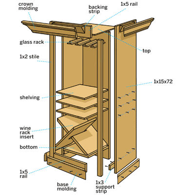 cocktail hutch overview