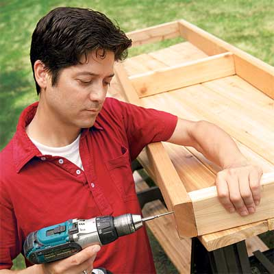 Assemble the Seat Frame to make a planter bench