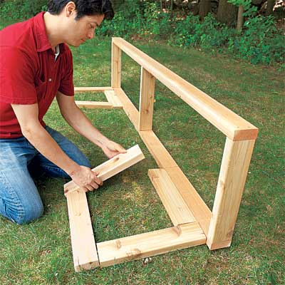 Lay Out the Planter Bases to make a planter bench