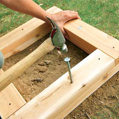 Drive the Spike to make a planter bench