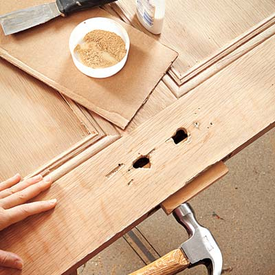Patch Holes How To Turn An Interior Door Into A