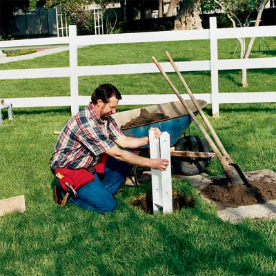 dig a foundation for the anchor to install an in-ground flagpole