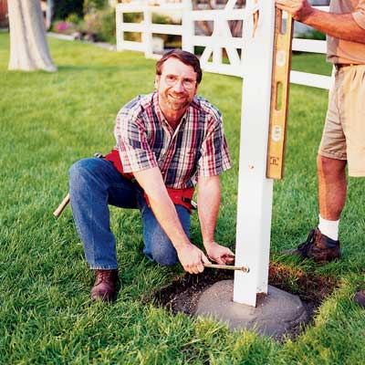 install the pole to complete an in-ground flagpole