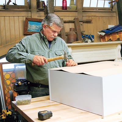 Tom Silva puts together a ready-to-assemble bookcase