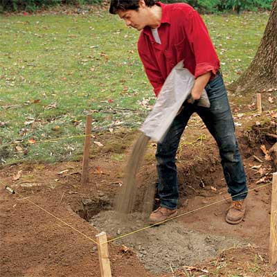 add the paver base to build a stone planter