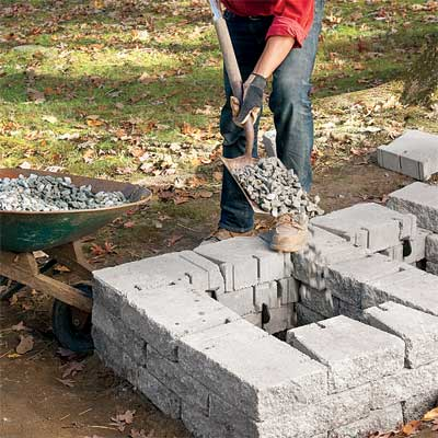 how to build a stone house step by step